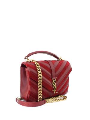 Saint Laurent: cross body bags online - Collège leather suede medium bag