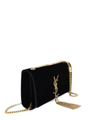 Saint Laurent: cross body bags online - Kate small velvet cross body bag