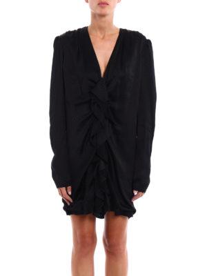 Saint Laurent: evening dresses online - Ruched sateen mini dress