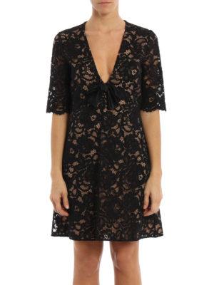 Saint Laurent: evening dresses online - Silk and cotton floral lace dress