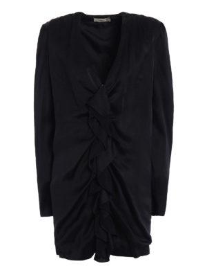 Saint Laurent: evening dresses - Ruched sateen mini dress
