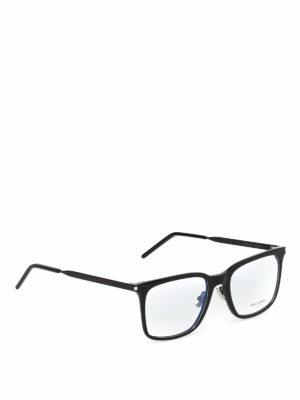 SAINT LAURENT: Occhiali - Occhiali da vista in acetato e metallo nero