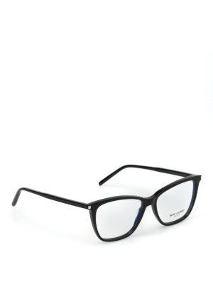 SAINT LAURENT: Occhiali - Occhiali da vista a occhi di gatto neri