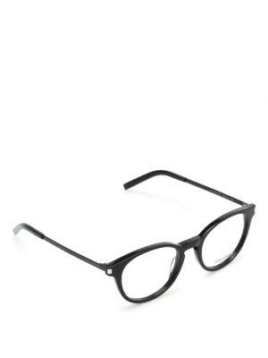 Saint Laurent: glasses - Black frame round glasses