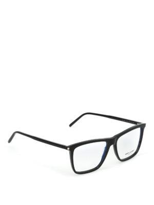 SAINT LAURENT: Occhiali - Occhiali da vista squadrati neri
