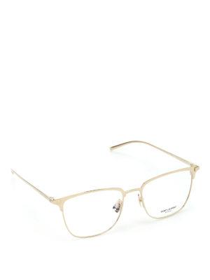 Saint Laurent: glasses - Gold tone titanium optical glasses