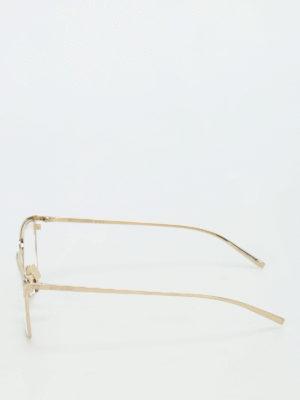 Saint Laurent: glasses online - Gold tone titanium optical glasses