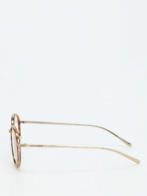 Saint Laurent: glasses online - Tortoiseshell round glasses