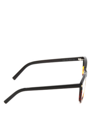 Saint Laurent: glasses online - Two-tone polished acetate glasses