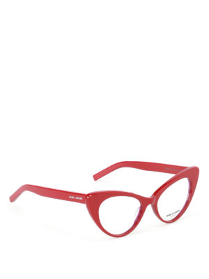 Saint Laurent: glasses - Red cat eye optical glasses