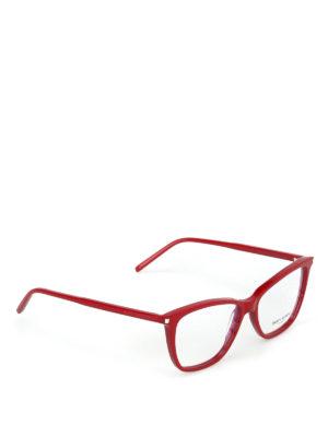 SAINT LAURENT: Occhiali - Occhiali da vista a occhi di gatto rossi