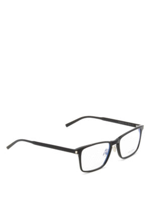 Saint Laurent: glasses - Slim acetate square glasses