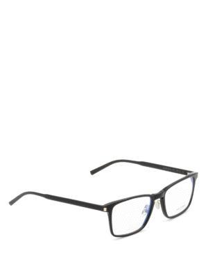 Saint Laurent: glasses - Slim acetate square glasses