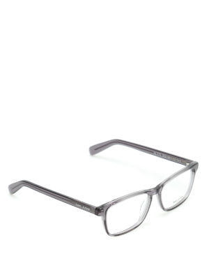 Saint Laurent: glasses - Squared transparent frame glasses