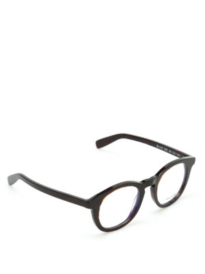 Saint Laurent: glasses - Thick frame round glasses