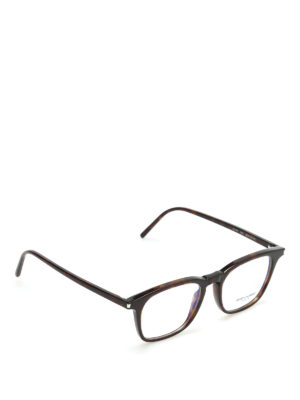Saint Laurent: glasses - Thick frame squared glasses
