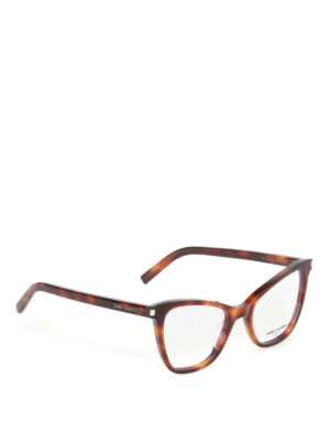 Saint Laurent: glasses - Tortoise cat eye optical glasses