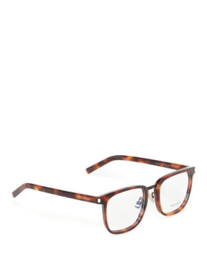 Saint Laurent: glasses - Tortoise square optical glasses