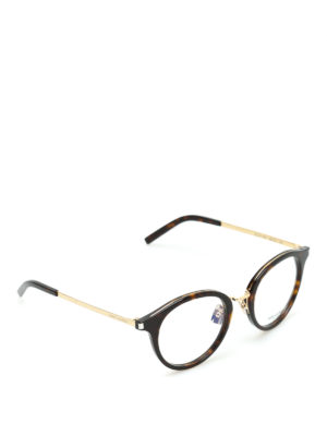 Saint Laurent: glasses - Tortoiseshell round glasses
