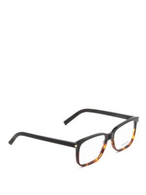 Saint Laurent: glasses - Two-tone polished acetate glasses