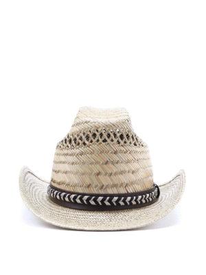 SAINT LAURENT: hats & caps - Woven straw hat