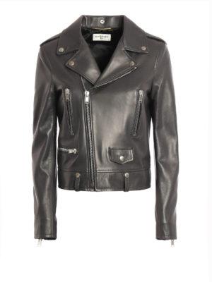 Saint Laurent: leather jacket - Asymmetric fastening leather jacket