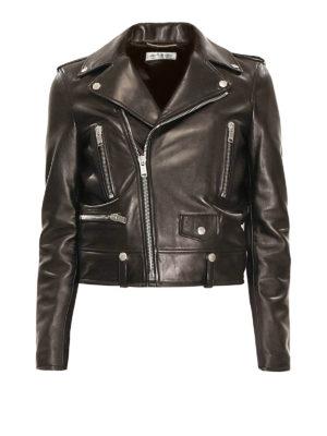Saint Laurent: leather jacket - Classic Motorcycle leather jacket