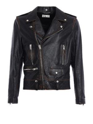 Saint Laurent: leather jacket - Motorcycle vintage leather jacket