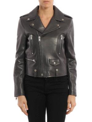 Saint Laurent: leather jacket online - Asymmetric fastening leather jacket