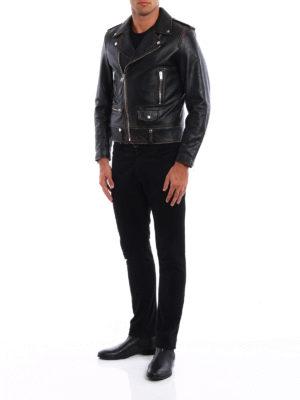 Saint Laurent: leather jacket online - Motorcycle vintage leather jacket