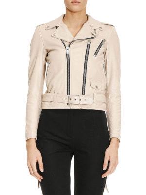 Saint Laurent: leather jacket online - Signature Motorcycle leather jacket