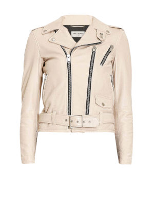 Saint Laurent: leather jacket - Signature Motorcycle leather jacket