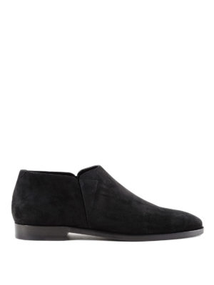 Saint Laurent: Loafers & Slippers - Slim 15 suede slippers