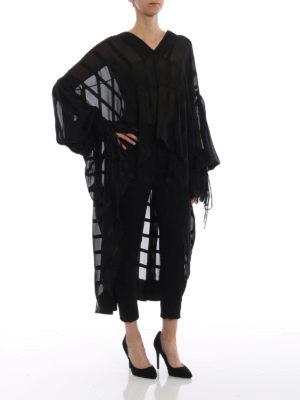 SAINT LAURENT: bluse online - Blusa in chiffon e raso di seta
