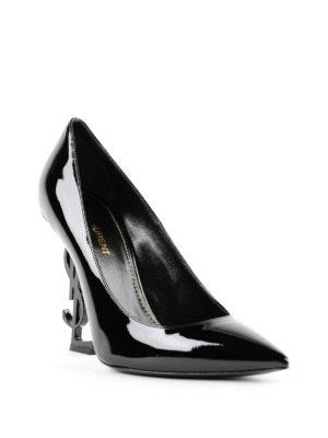 SAINT LAURENT: scarpe décolleté online - Décolleté Opym con tacco YSL in metallo