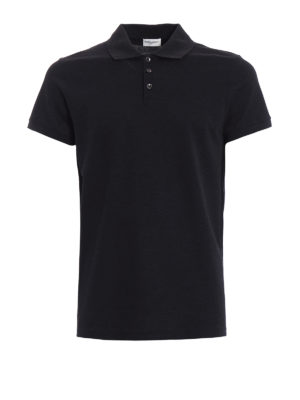 Saint Laurent: polo shirts - Heaven embroidery polo shirt