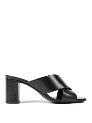 Saint Laurent: sandals - Loulou 70 leather sandals