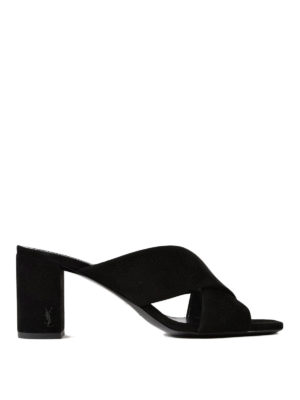 Saint Laurent: sandals - Loulou 70 suede sandals