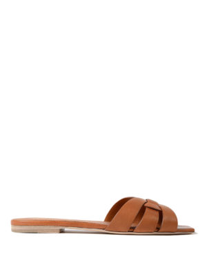 Saint Laurent: sandals - Nu Pied 05 leather slide sandals