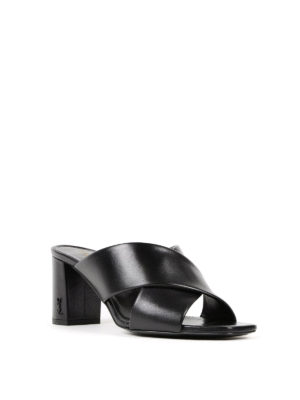 Saint Laurent: sandals online - Loulou 70 leather sandals