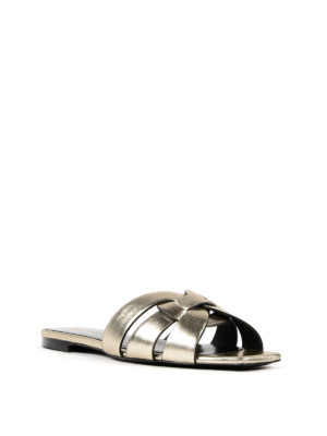 Saint Laurent: sandals online - Nu Pieds Tribute flat slide sandals