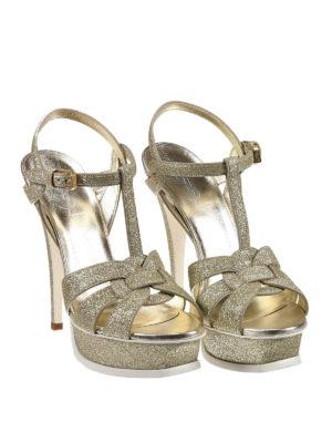 Saint Laurent: sandals online - Tribute 105 glitter sandals