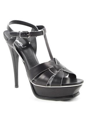 Saint Laurent: sandals online - Tribute 105 leather sandals