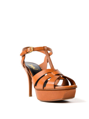 Saint Laurent: sandals online - Tribute 75 amber sandals