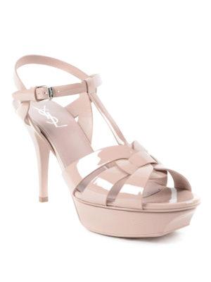 Saint Laurent: sandals online - Tribute 75 patent sandals