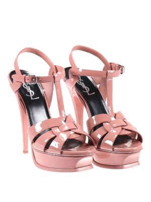 Saint Laurent: sandals online - Tribute patent leather sandals