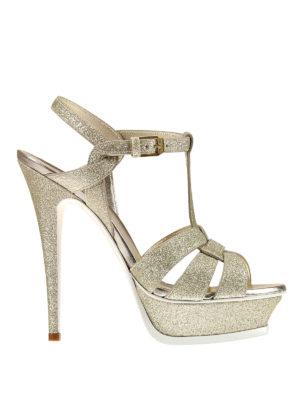 Saint Laurent: sandals - Tribute 105 glitter sandals
