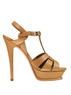 Saint Laurent: sandals - Tribute 105 leather sandals