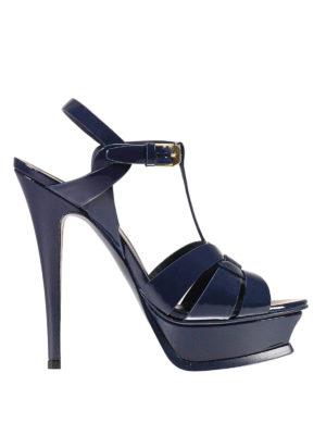 Saint Laurent: sandals - Tribute 105 patent leather sandals