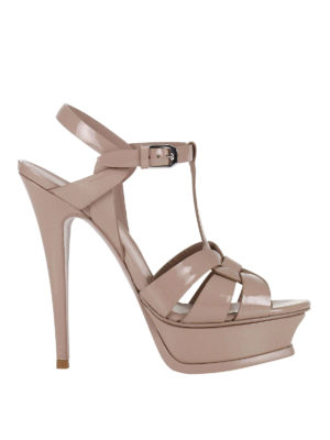 Saint Laurent: sandals - Tribute 105 patent leather sandals